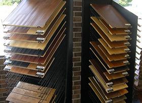 wood flooring display